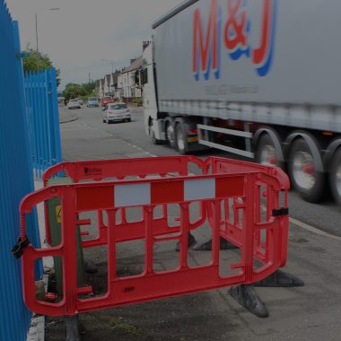 Plastic Barriers are a strong and secure form of traffic management designed to maximise wind flow