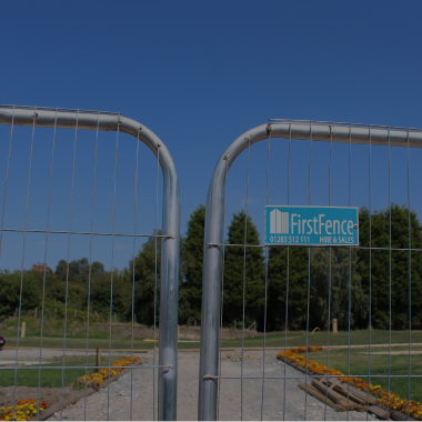 Temporary Fencing is an ideal solution for outdoor sites