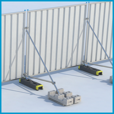 Hoarding Stabiliser and Cross Brace with Block Tray
