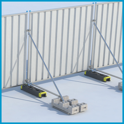 Hoarding Stabiliser with Brace with Block Tray