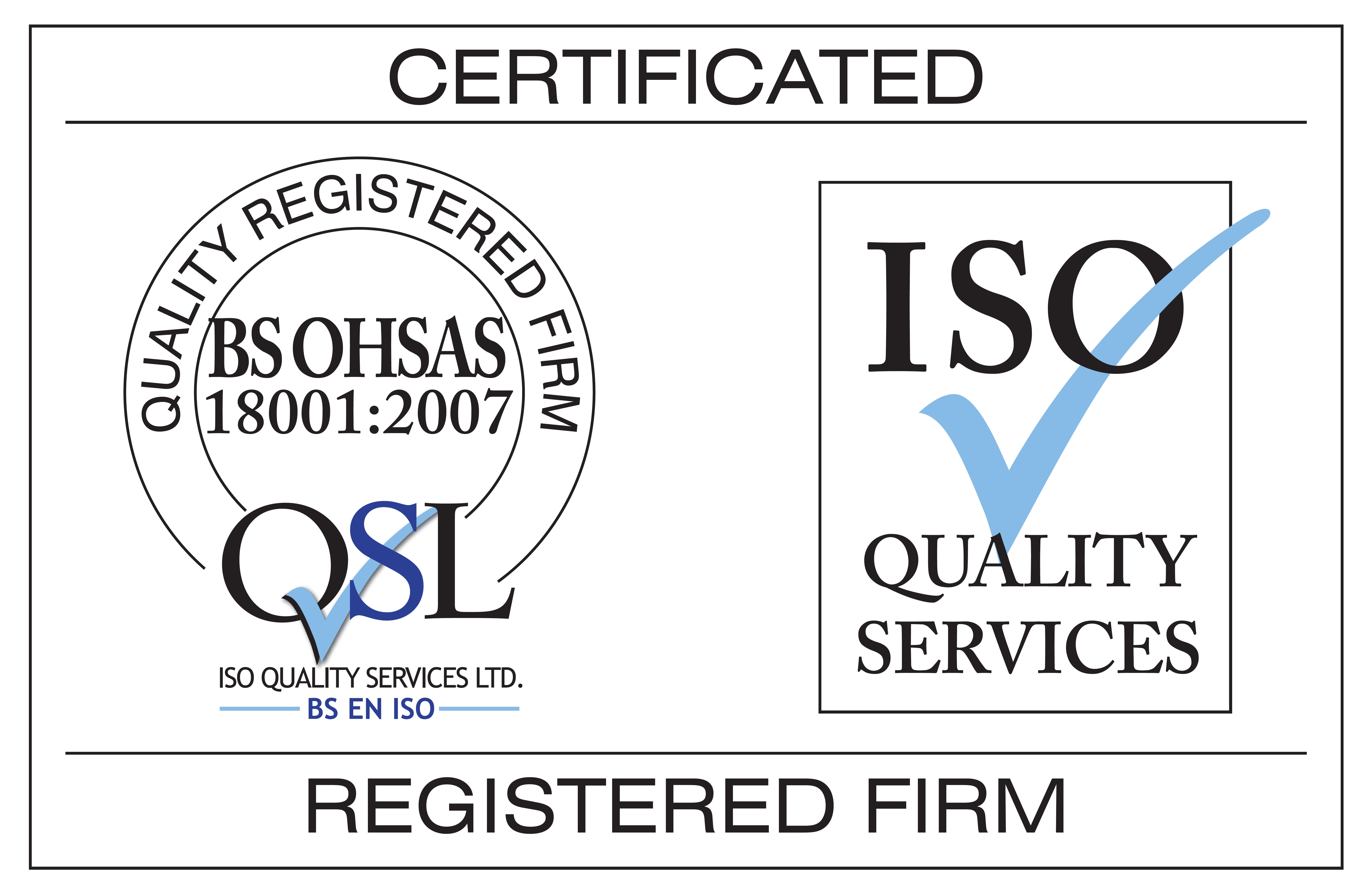 BS OHSAS 18001:2007 certified