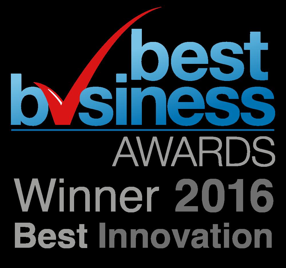 Best Innovation Award Winner 2016 - Best Business Awards