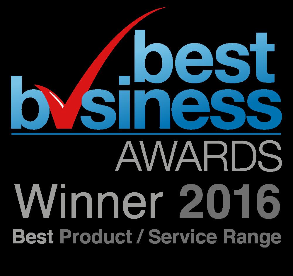 Best Product/Service Range Business Award Winner 2016 - Best Business Awards