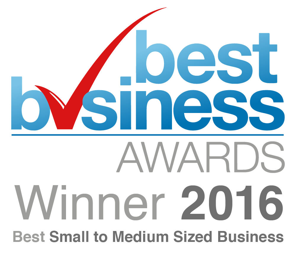 Best Small to Medium Sized Business Award Winner 2016 - Best Business Awards